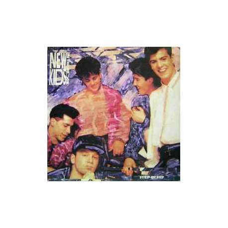 NEW KIDS ON THE BLOCK STEP BY STEP 1990 LP.